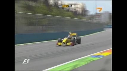 Болид от Формула 1 полита във въздуха!!