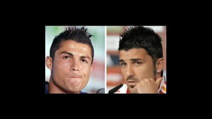 Cristiano Ronaldo and David Villa