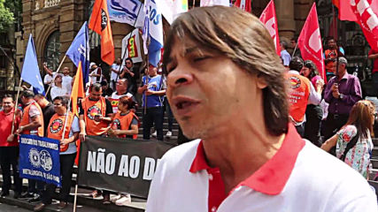 Brazil: Unions protest Bolsonaro's economic policies in Sao Paolo