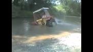 Трактор трака в гьола