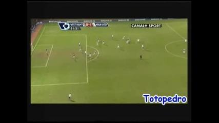 Уест Хем - Манчестър Юнайтед 0:1 Гигс Гол