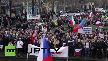 Czech Republic: Anti-refugee protesters rally against government in Prague