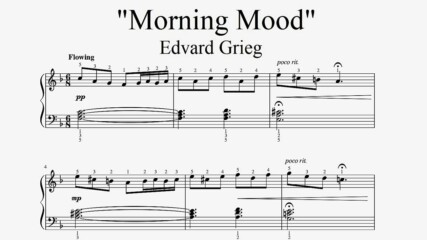 Edvard Grieg - Morning Mood - Piano sheet music (by Tatiana Hyusein)