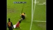 09.04.08 (CL) Man. Utd - Roma 1 - 0 Tevez Goal