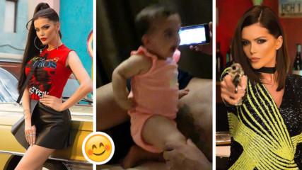 Дъщеричката на Преслава в сладко видео! Затанцува на новата песен на майка си