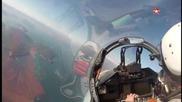 Су-35 симулация на въздушен бой - кадри от кабината.
