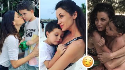 Как отглежда Диляна Попова сина си Борил? И на какво иска да го научи?