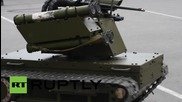 Russia: New Platform-M combat robot on show at military festival