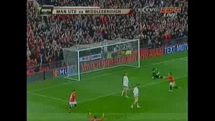 Манчестър Юнайтед - Мидълзбро 3 - 1 ( Тевез )