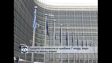 Гърците са изнесли извън страната 7 милиарда евро само за април