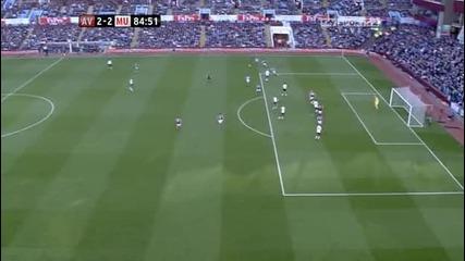 Манчестър Юнайтед възкръсна срещу Астън Вила и отново не загуби