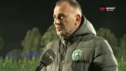 Тони Здравков след загубата: Доволен съм, искахме да се натоварим