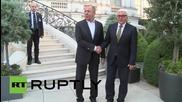 Austria: Lavrov and Steinmeier in high spirits at Iran nuclear talks