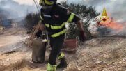Italy: Firefighters battle Sardinian wildfires