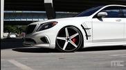 Бруталнo изпълнение върху: Mercedes- Benz S550 - Savini Wheels