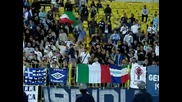 Ултраси на Лацио подкрепят Левски