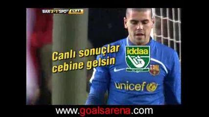 Барселона - Хихон 3:1 08.02.2009