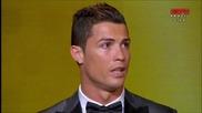 Кристиано Роналдо печели златната топка за 2013