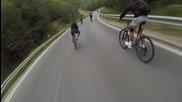 Най-дългото и динамично спускане с колела с над 70км. в час на Обиколката на България 2014