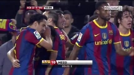 Fc Barcelona 3 vs 1 Villareal Cf (13.11.2010)