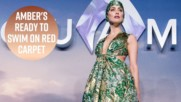 Амбър Хърд с драматичен морски аутфит на премиерата на Аквамен