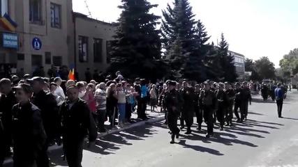 Парад на казаците и опълченците за 70 години от освобождението на Донбас от хитлеристите