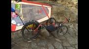 Пътешественик на триколка спря в Стария град в Пловдив