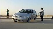 Автомобил с щуро въздушно окачване