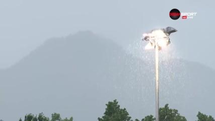 Страхотен дъжд връхлетя Лудогорец и Карабах