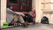 UK: Activists super-glue themselves to London building, blockading coal conference
