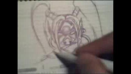 Рисуване На Orc Assasain