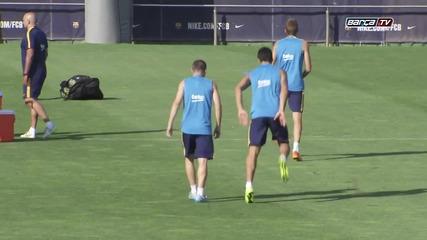 Барселона първата тренировка сезон 2015/2016