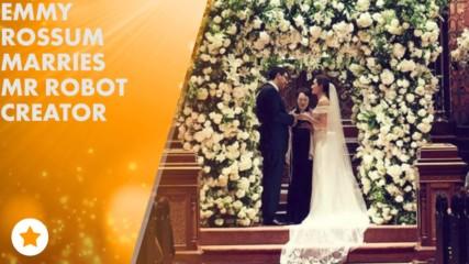 Emmy Rossum's wedding pics are here!