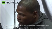 NBA Superstar Kevin Durant Visits Berlin