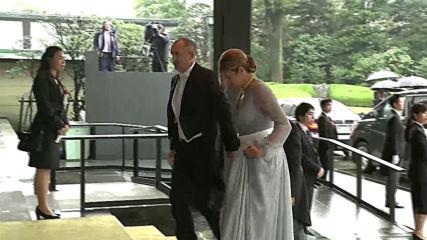 Президентът Румен Радев и съпругата му на интронизацията на новия японски император