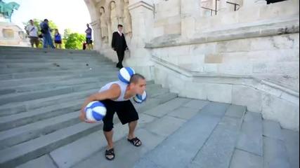 Виртуозни изпълнения с баскетболна топка