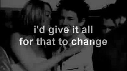 Nick Jonas ft. Miley Cyrus - Before the storm (with lyrics)(с бг превод)