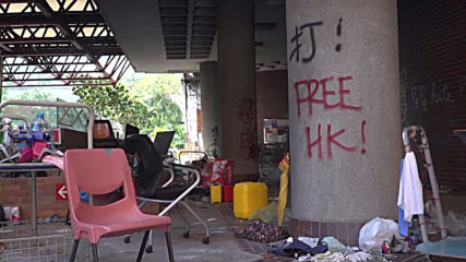 Hong Kong: PolyU left littered as protesters hold out on campus