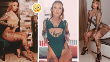 Татуирана красавица продава мръсното си бельо! Няма да повярвате по колко ѝ го купуват