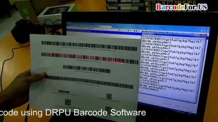 How to create barcode with large amount of data