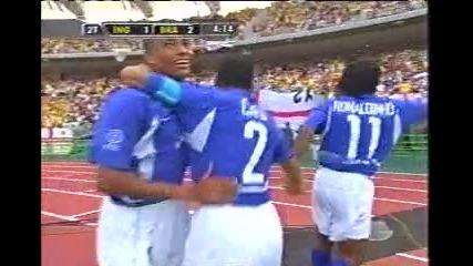 Ronaldinho -2002 worldcup goal against England