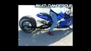 Hayabusa 1500 Burn Out Full Trottle