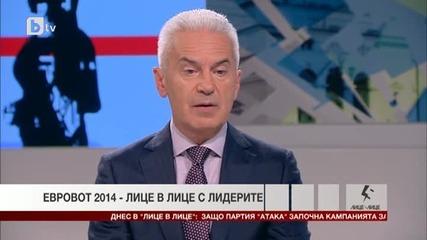 Волен Сидеров лидер на Пп Атака гост на Лице в лице - Евровот 2014. Тв Alfa - Атака 20.05.2014г.