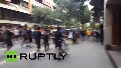 Щети в Испания след шествие на анархисти