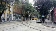 Трамвай Чкд Татра Т6б5б №4101 на ул. Пиротска