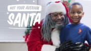 """Meet the African-American Santa who's a """"Claus with a Cause"""""""