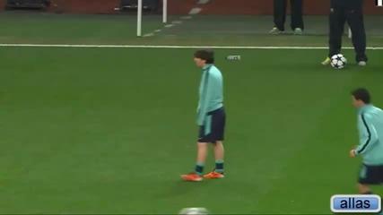 Смешен момент с Messi на тренировка