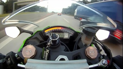 Kawasaki Ninja Zx-10r vs Audi Rs6 Abt 700 ps