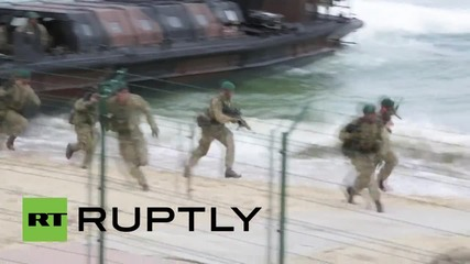 Portugal: NATO marines storm Troita beach in mass Trident Juncture drills