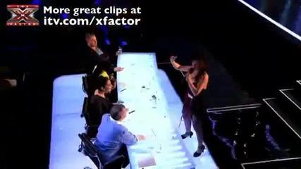 Луда жена в The X Factor 2011